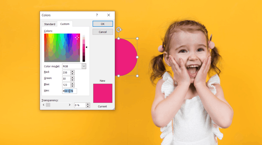 PowerPoint Hex color