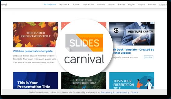 אתר לשכפול מצגות Slides Carnival