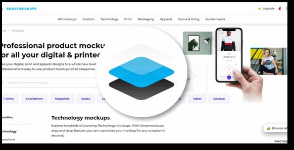 Smartmockups: הדמיה של תמונות בתוך אתרים/מצגות/אפליקציות/מכשירים